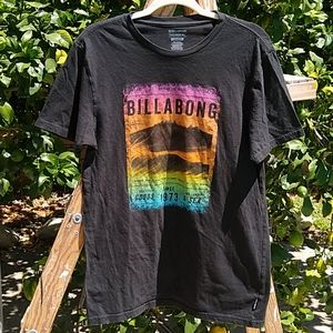 Billabong Tailored Fit Black Surf/Wave T-Shirt  L